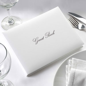Wedding Guest Book White/Silver
