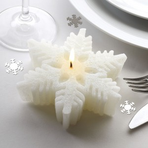 Snowflake Wedding Candle