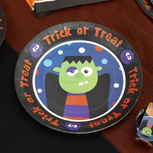Trick or Treat Childrens Party Plates