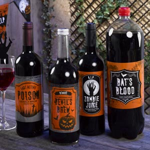 halloween bottle labelsdecorations - Adult Halloween Decorations