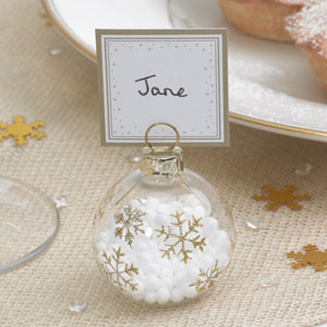Winter Weddings Bauble Place Card Holders