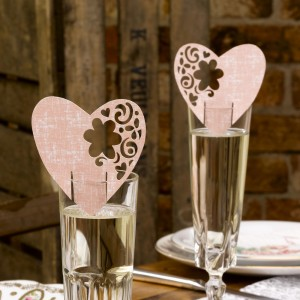Wedding Ideas Pink Glass Decorations