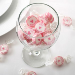 Wedding Sweets Pink 'Just Married' Rock